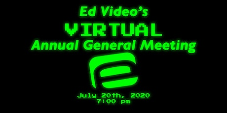 Ed Video Media Arts Centre's Online Annual General Meeting tickets