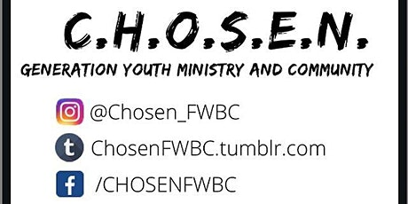 CHOSEN Youth Bible Study billets