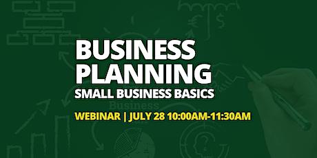 Business Planning – Small Business Basics - Webinar tickets