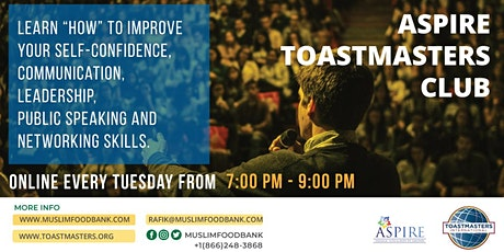 ASPIRE Toastmasters Club - ONLINE tickets