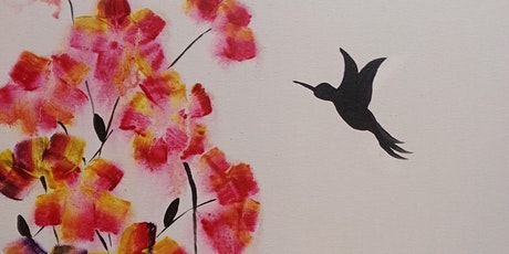 "Virtual Paint Party ""Flowers and Hummingbird"" with Creatively Carrie! tickets"
