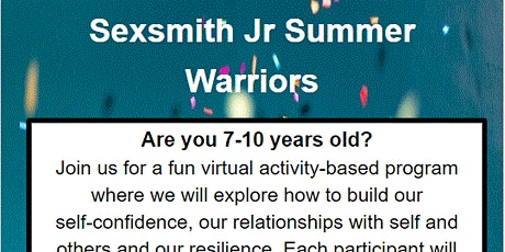 Jr Summer Warriors - Session 2 (Jul 28-Aug 18) - ages 7-10 in Sexsmith tickets