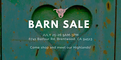 Barn Sale 2020!! tickets