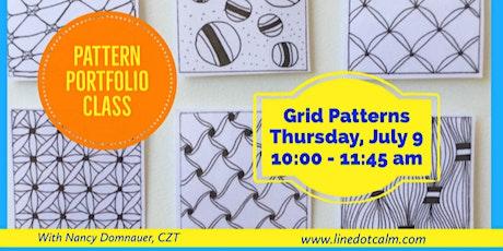 Zentangle® Grid Patterns Portfolio Class July 9 tickets