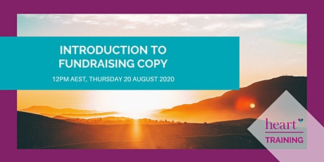 Introduction to Fundraising Copy tickets
