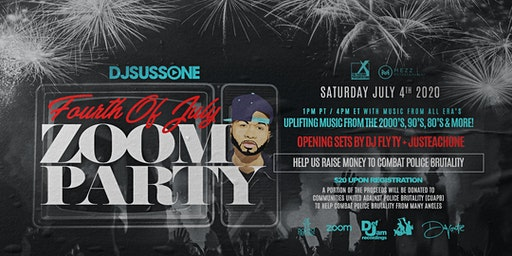 DJ Suss One's 4th of July Zoom Bash