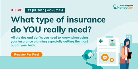 What type of insurance do YOU really need? tickets