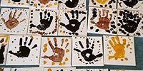 Sand Art Hand Prints on canvas tickets