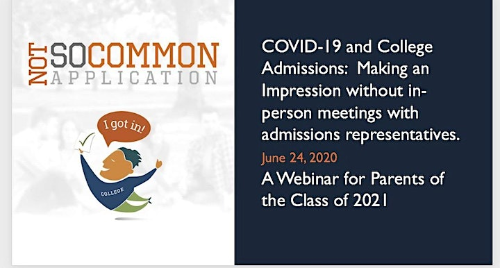 COVID-19: Navigating College Admissions  for Parents of Class of '21 image