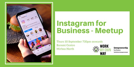 Instagram for Business - Meetup tickets