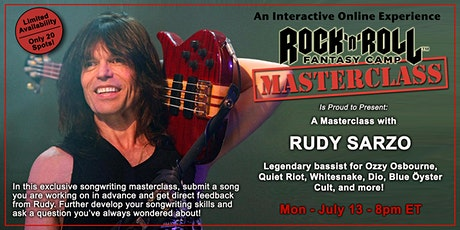 Songwriting Masterclass with Rudy Sarzo tickets