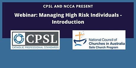 Managing High Risk Individuals - Introduction(webinar) tickets