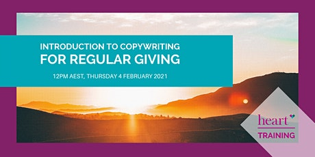 Introduction to Copywriting for Regular Giving tickets