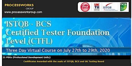 ISTQB-BCS Certified Tester Foundation Level (CTFL) tickets