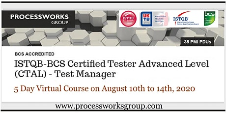 ISTQB-BCS Certified Tester Advanced Level (CTAL) – Test Manager tickets