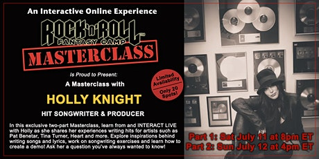 Two-Part Songwriting Masterclass with Holly Knight! tickets