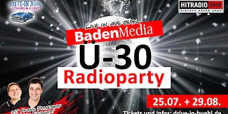 BadenMedia Ü-30 Radioparty live mit Frank Dickerhof und Tobias Siegwart Tickets