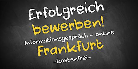Bewerbungscoaching Informationsgespräch Online - AVGS Frankfurt Tickets