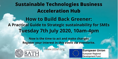 How to Build Back Greener: A Practical Guide to Strategic Sustainability tickets