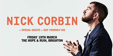 NICK CORBIN - Plus Guests & DJ's - Brighton tickets