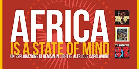 Africa is a state of mind - uno spettacolo di Federico Sacchi biglietti