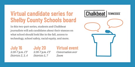 Who will serve on the SCS board? Chalkbeat to host virtual candidate forums tickets