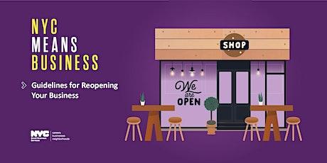 Guías para reabrir negocios de la Primera Fase en NYC, Queens, 07/23/20 biglietti
