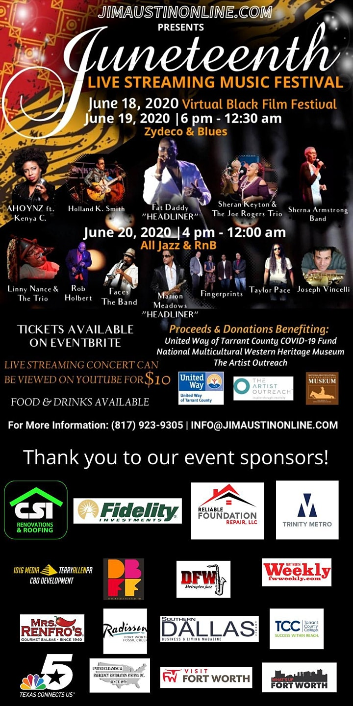 Juneteenth Live Streaming Music Festival image