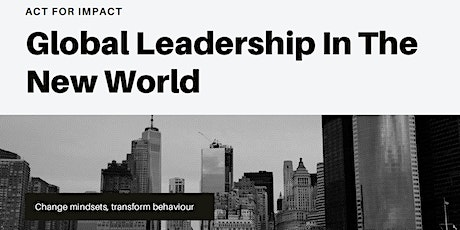 Global Leadership In The New World tickets