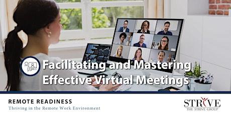 Facilitating and Mastering Effective Virtual Meetings tickets