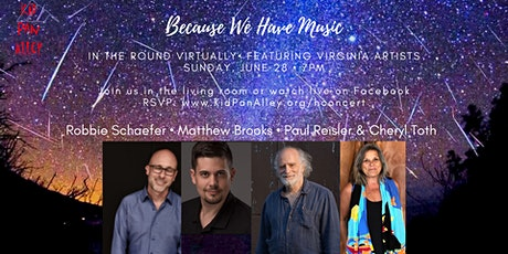 Because We Have Music Virtual House Concert Series hosted by Kid Pan Alley tickets