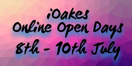 iOakes - Open Day Online event: webinars tickets