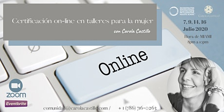 Curso para facilitar talleres on-line para la mujer boletos