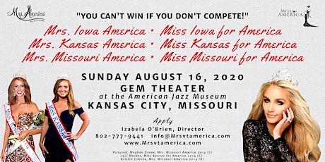 Mrs. IA, KS & MO America/Miss A, KS & MO for America Pageants 2020 tickets
