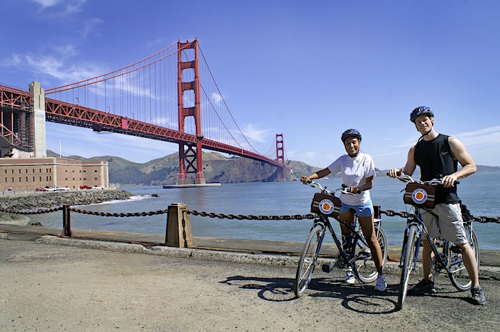 Morning Golden Gate Bridge Bike Ride and Afternoon Wine Country Tour image