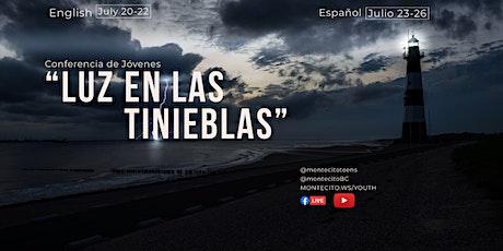 """Conferencia de Jóvenes 2020 """"Luz en las Tinieblas"""" - REGISTRACION tickets"""