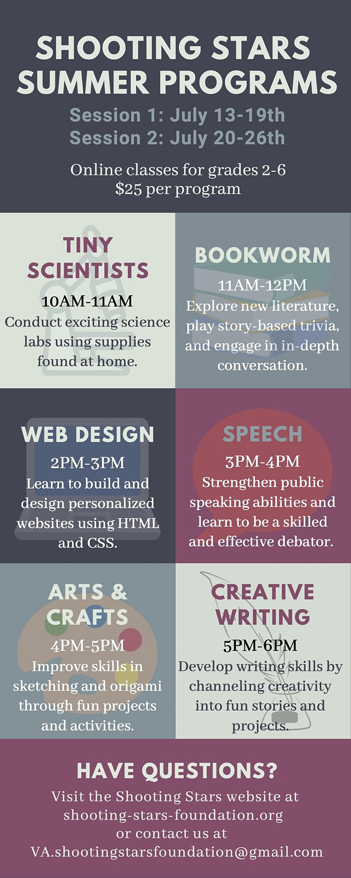 Online Creative Writing Session B July 20th - July 26th image