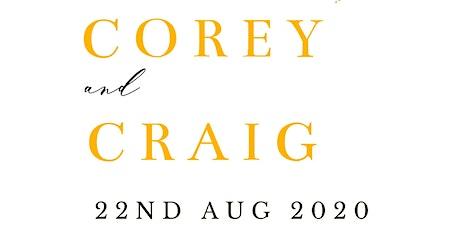 The Wedding of Corey & Craig tickets