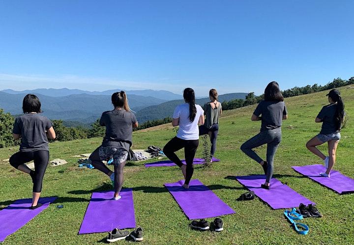 Mountaintop Yoga Hike image