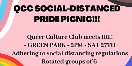Pride picnic (socially distanced) with Queer Culture Club tickets