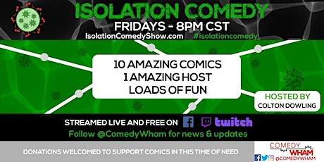 Isolation Comedy by Comedy Wham - 7/10/2020 tickets
