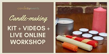 Beginners candle-making kit + online videos + LIVE online workshops tickets
