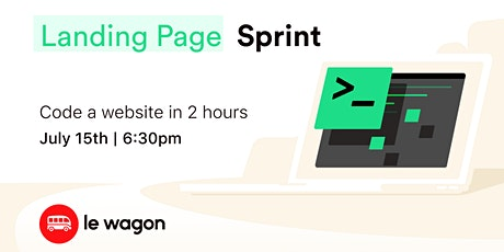 Landing Page Sprint - Build a landing page in 2 hours tickets