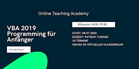 Excel 2019 VBA Programmierung für Anfänger - Virtual Classroom Tickets