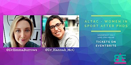 AltAc - Women in Sport after PhDs tickets