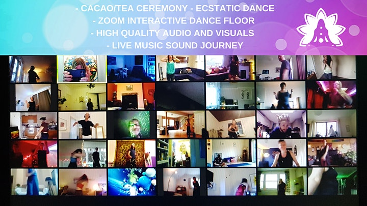 Ecstatic Dance London *ONLINE* Ecstatic Saturdays: Cacao & Sound Journey image