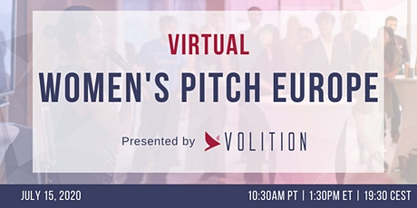 Women's Pitch Europe (virtual) | July 15 tickets