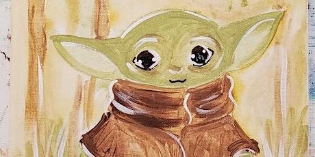 7/19 $22 Baby Yoda @ Paint Like ME Studio tickets