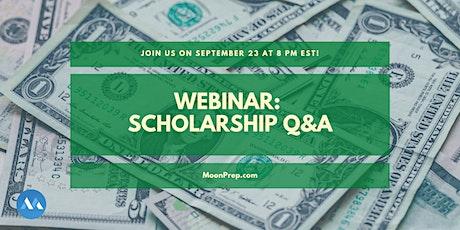 Webinar: Applying for Scholarships tickets
