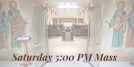 Saturday Vigil Mass at 5 PM tickets
